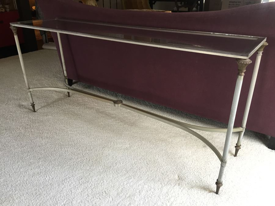 Lot 33 Of 134 Metal And Glass Console Sofa Table