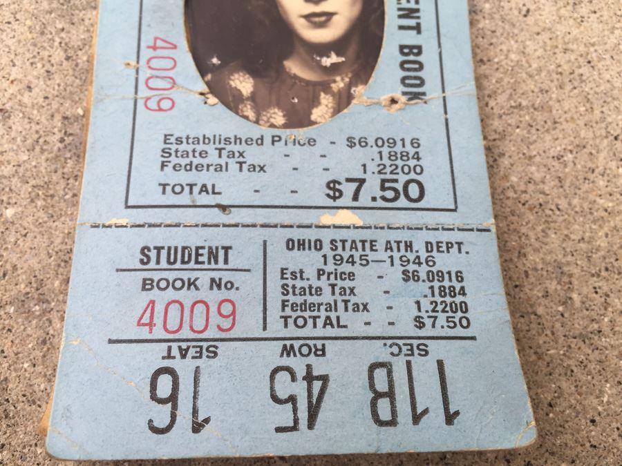 1944 1945 Season The Ohio State University Student Ticket ...