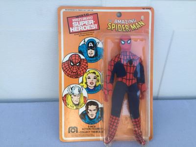 The Amazing-Spiderman Action Figure Mego Sealed On Card Vintage 1975