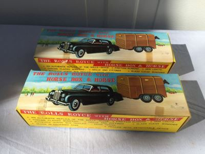 Vintage The Rolls Royce With Horse Box And Horse New In Box By OK Hong Kong
