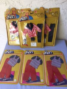 Ken Doll Get-Ups 'N Go Fashions Barbie Doll Clothes New On Card Mattel 1978