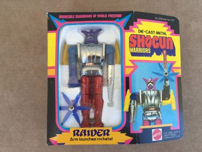 SHOGUN WARRIORS Raider Arm Launches Rocket Mattel New In Box 1977