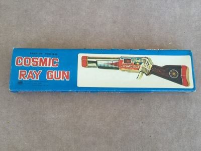 Comic Ray Gun Friction Powered New In Box COTC