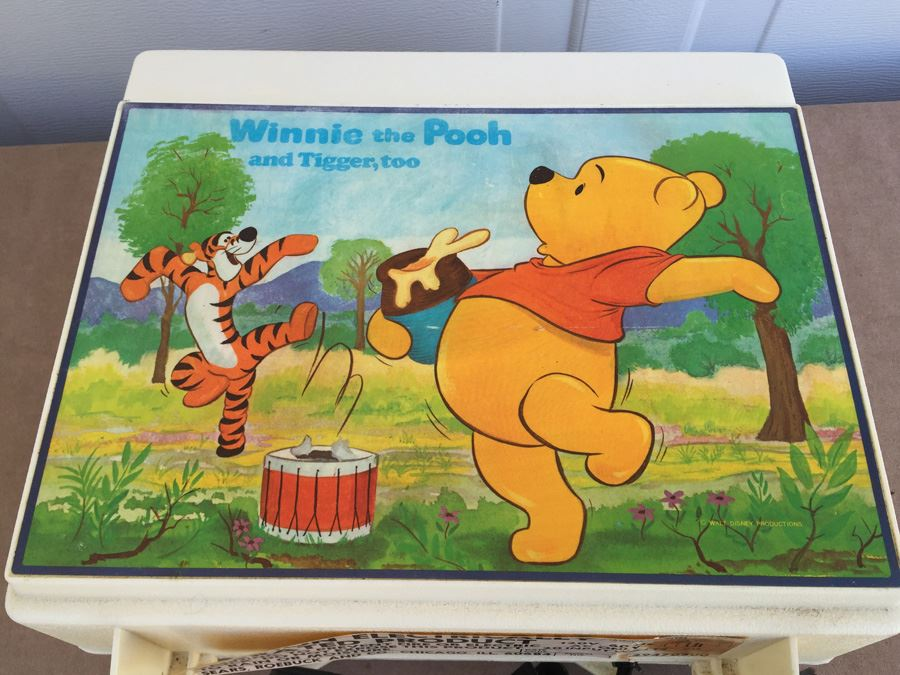 Vintage Winnie The Pooh And Tigger Too Record Player