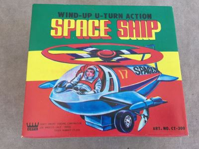 Space Ship Wind-Up U-Turn Action New In Box CT-300 COTC