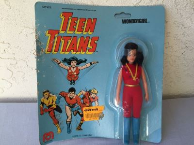 TEEN TITANS Wondergirl MEGO New On Card 1976 DC Comics