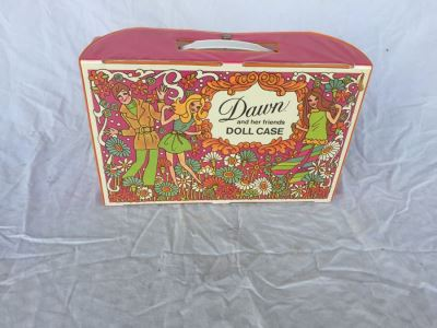 Vintage Dawn Doll Case With Dawn Dolls, Clothing And Accessories