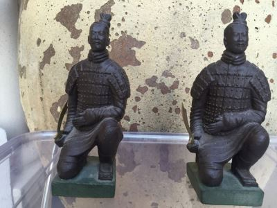 Pair Of Bronzed Asian Bookends