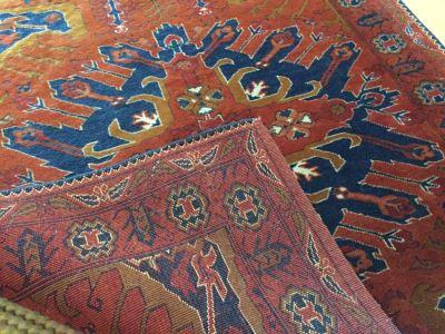 Vintage Nomadic Hand Woven Wool Afghan Runner Afghanistan 13 Feet Long