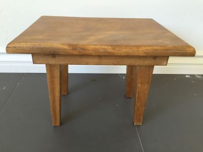 Custom Wooden Stool Handcrafted By Grandfather