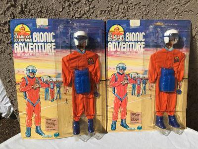 The Six Million Dollar Man Bionic Adventure Test Flight At 75,000 Feet Set New On Card Vintage 1976