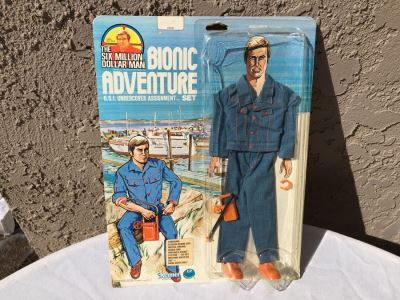 The Six Million Dollar Man Bionic Adventure O.S.I. Undercover Assignment Set Vintage 1976