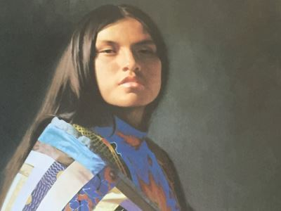 Don Crowley Signed Limited Edition Print Of Native American Woman 193/1000 1978 San Carlos, Arizona