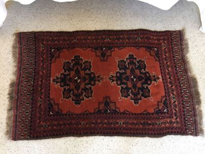 Hand Woven Wool Persian Area Rug Measures 52' x 31.5'