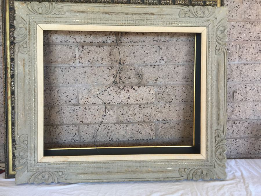 Pair Of Ornate Wooden Picture Frames
