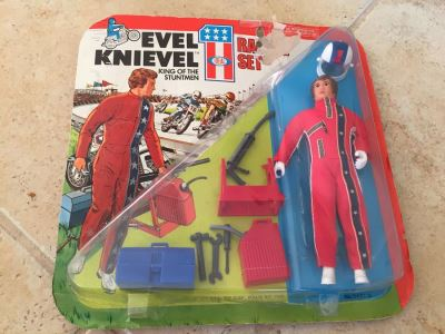 Evel Knievel Racing Set On Damaged Card IDEAL 1975