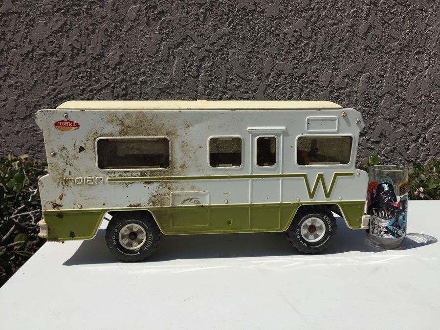 Large Metal Vintage Tonka Winnebago Indian Rv Motor Home Steel Camper 1970s Photo