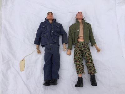 Pair Of Vintage 1964 And 1966 G.I. Joe HASBRO Action Figure Dolls With G.I. Joe Clothes