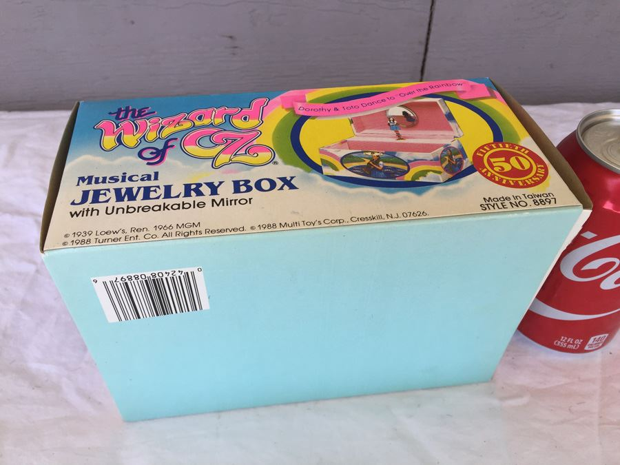 The Wizard Of Oz Musical Jewelry Box Multi Toys Corp 1988 New In Box