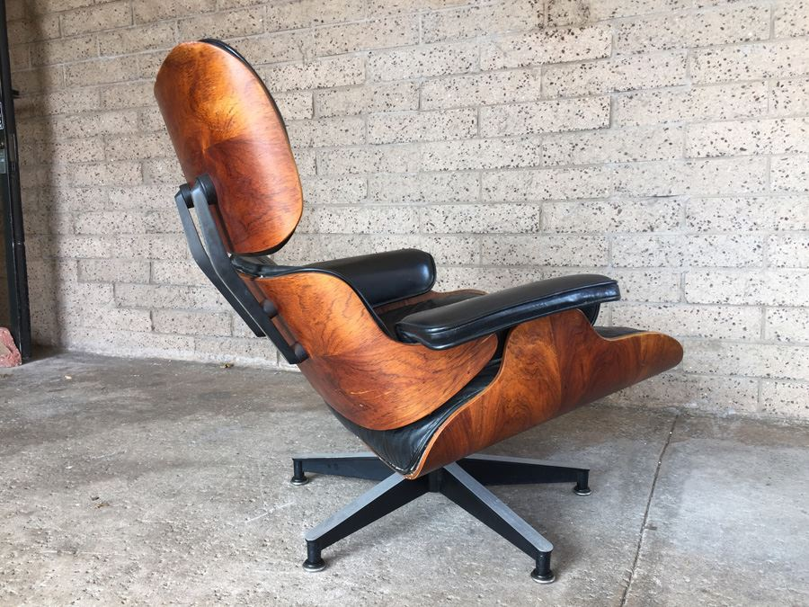 Vintage Rosewood Lounge Chair And Ottoman By Charles Eames Herman Miller