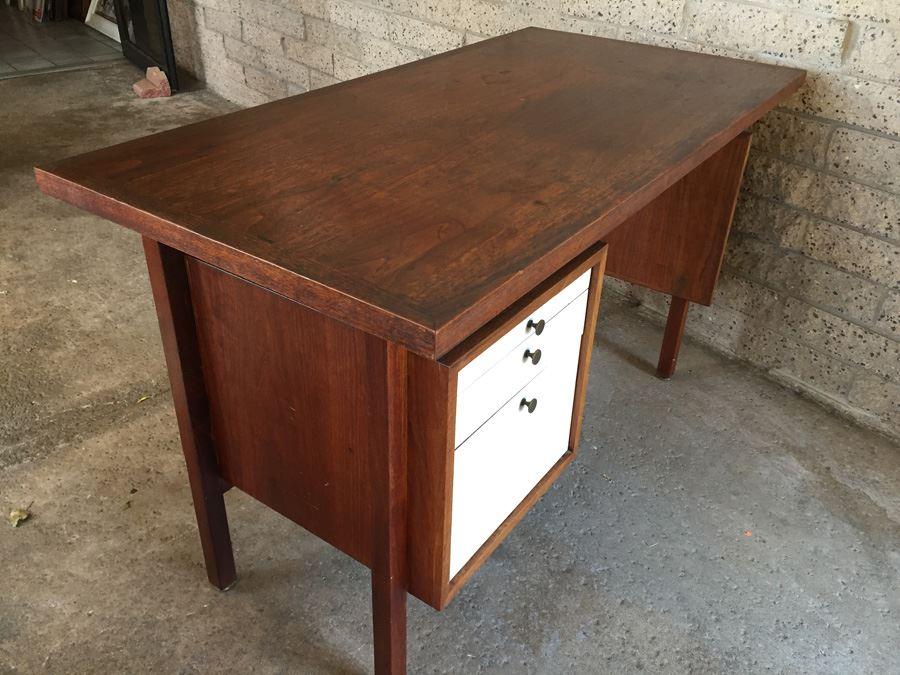 item title=Custom Mid Century Modern Floating Desk