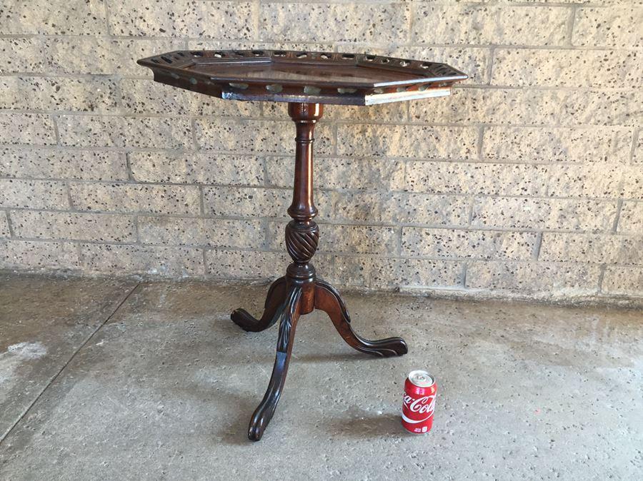 antique three legged table Vintage 3 Leg Table antique three legged table