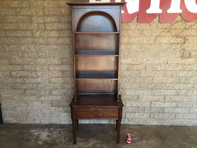 Vintage Wooden Table With Hutch