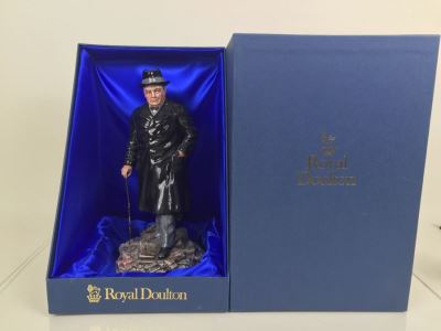 JUST ADDED - Royal Doulton Large Figurine Winston S. Churchill HN 3433 Limited Edition 143 Of 5,000 With Original Box