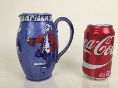 JUST ADDED - Vintage Royal Doulton Motto Proverb Pitcher D 1573 Hand Painted
