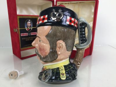 JUST ADDED - Royal Doulton Large William Grant Character Jug Liquor Decanter Empty With Box Limited Edition Of 5,000