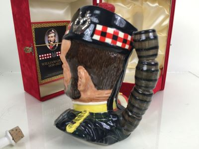 JUST ADDED - Royal Doulton Large William Grant Character Jug Liquor Decanter Empty With Box
