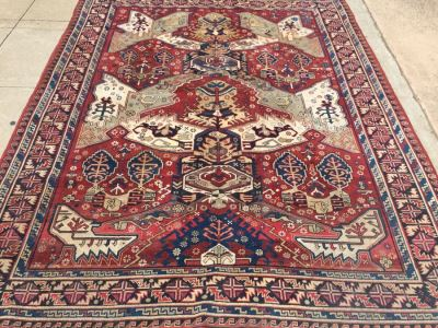 Large Geometric Pattern Persian Area Rug