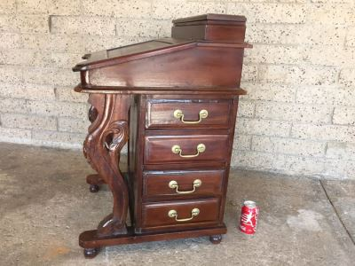 Antique Ship Captain's Writing Desk From Mid 1800's Must See