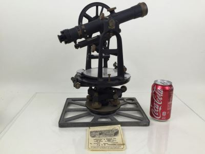 Vintage 1942 Keuffel & Esser Co. Engineer's Transit No. 5060F Used For Surveying In Great Condition