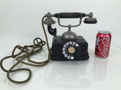 Antique Late 1800's Danish European Bell Ringer Telephone KJobenhavns Telefon