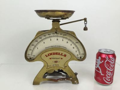 Vintage Swedish Lindells Kitchen Scale Industrial