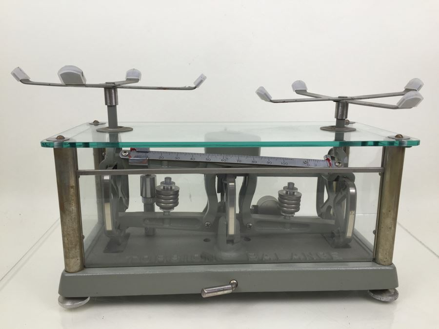 Vintage Apothecary Torsion Balance Scale From The Torsion