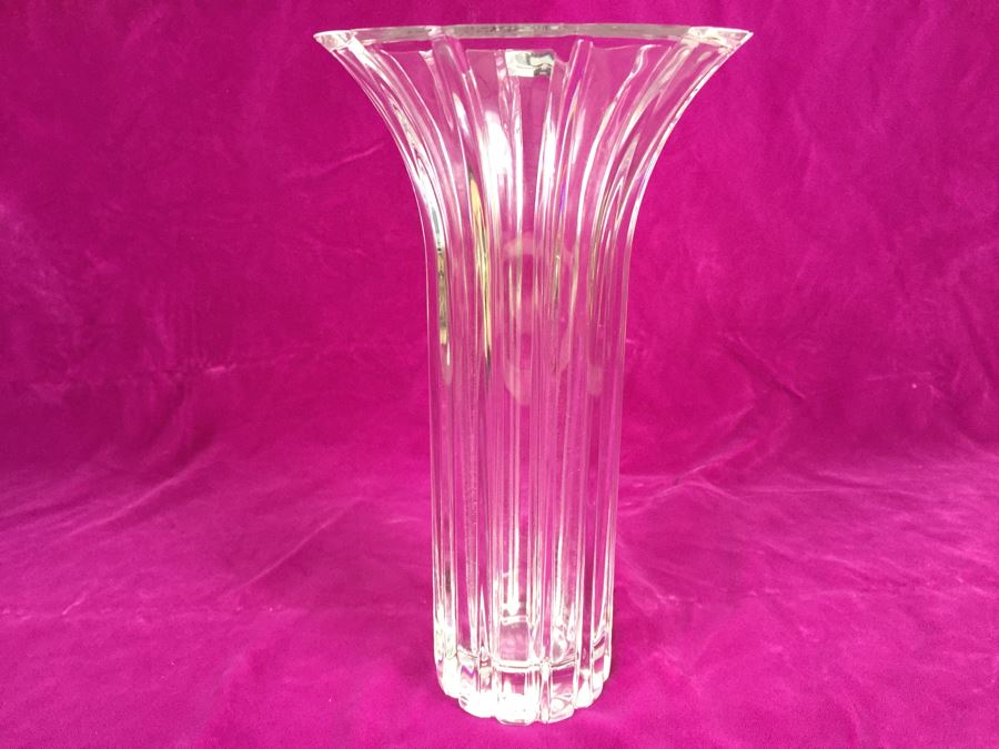 Tall Crystal Vase Marquis By Waterford Crystal Made In Germany