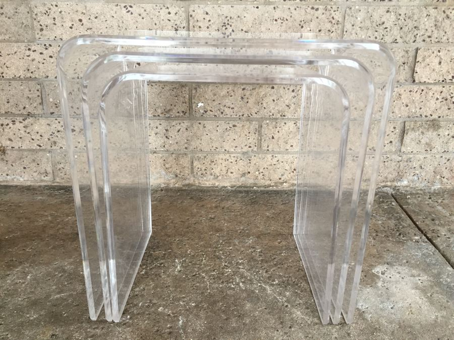 Set of 3 lucite nesting tables set of 3 lucite nesting tables photo 1 watchthetrailerfo
