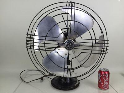 General Electric Art Decco Fan Circa 1938 49x936 16' AB/SC Vortalex Chrome Excellent Working Condition