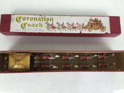 Larger Version Coronation Coach Hand Painted Cast Iron By Lesney Products & Co Made In England Matchbox With Original Box