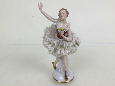 Vintage Gerold & Co. Tettau Bavaria Ballerina Porcelain Figurine 4502