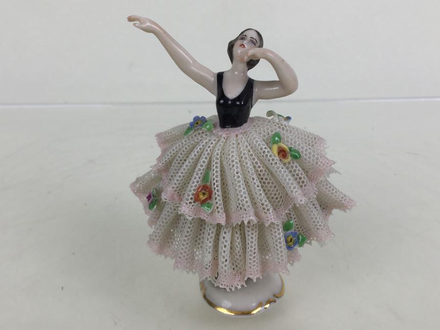 Vintage Frankenthal Porcelain Dresden Art Ballerina Figurine