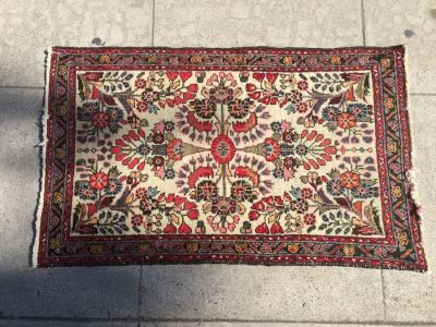 Small Hand Knotted Wool Persian Rug From Iran