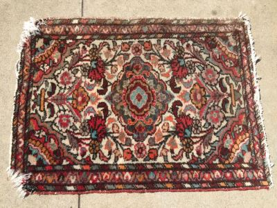 Vintage Hand Woven Wool Persian Area Rug