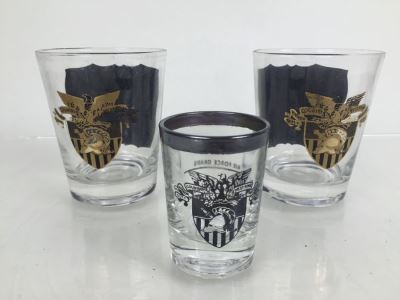 Set Of 3 West Point Glasses