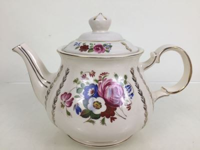 Sadler England Hand Painted Tea Pot