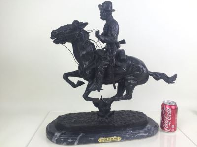 Trooper Of The Plains By Frederic Remington Bronze Statue Limited Edition 1 Of 100