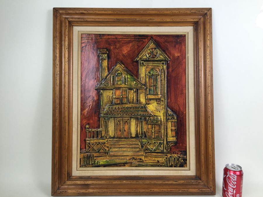 Mixed Media Relief Original Painting Signed By Arist Dale Rousey South Laguna California On Back [Photo 1]