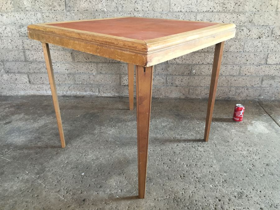 Vintage Wooden Folding Card Table